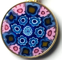Murano Glass Pendant Millefiori 18mm 8