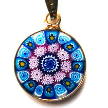 Murano Glass Pendant Millefiori 15mm 7