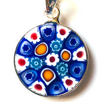 Murano Glass Pendant Millefiori 15mm 4