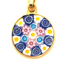 Murano Glass Pendant Millefiori 15mm 10