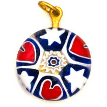 Millefiori Raised Pendant 18mm 4