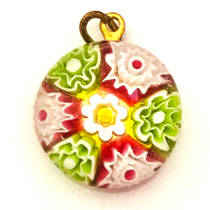 Millefiori Raised Pendant 18mm 2