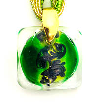 Murano Glass Pendant Martina Green