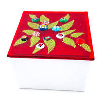 Murano glass box - small (red)