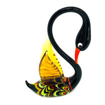 Murano Glass Ornament Swan 2