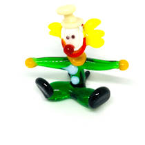 Murano Glass Clown - Miniature - Seated - 3