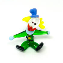 Murano Glass Clown - Miniature - Seated - 2