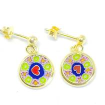 Murano Glass Millefiori Earrings (A)