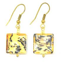 Murano Glass Bead Earrings - Africa