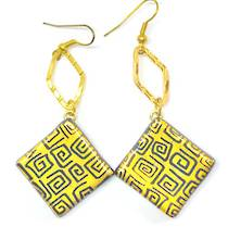 Murano Glass Bead Earrings - Safari