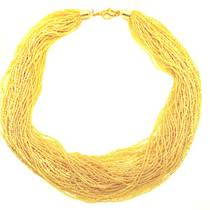 Murano Glass Bead Necklace 60 Strands - Fenice 2 (Gold)