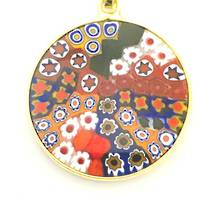 Murano Glass Pendant Millefiori 23mm 5