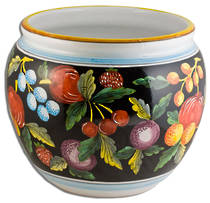 Hand-Painted Ceramics Zafiro Cache Pot 270mm