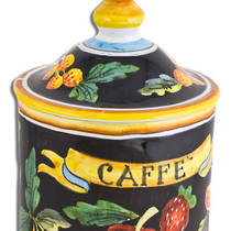 Hand-Painted Ceramics Zafiro Coffee Jar