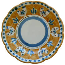 Hand-Painted Ceramics Gallinelle Side Plate Orange