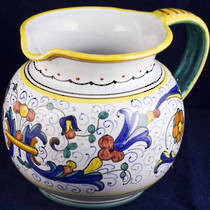 Hand-Painted Ceramics Ricco Deruta Jug 150mm