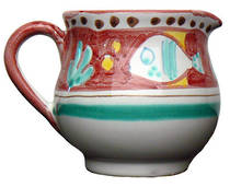 Hand-Painted Ceramics Pesce Jug 80mm Red