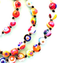 Nerida 8mm Multicoloured bead necklace