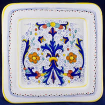 Hand-Painted Ceramics Ricco Deruta Square Platter 300mm
