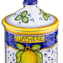 Hand-Painted Ceramics Dafne Sugar Jar