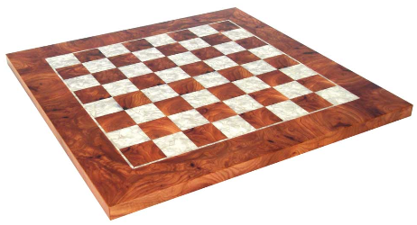 Elm and Mother of Pearl Chess Board