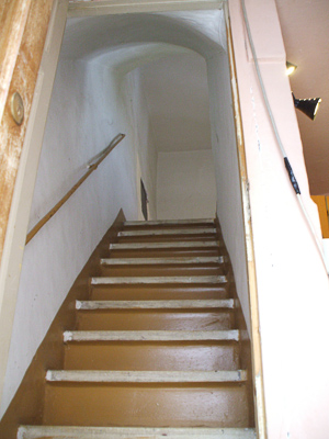 Prezza House Stairs 'pre-renovation'