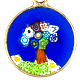 04607 Murano Glass Millefiori Pendant 15mm 3-1-171-122