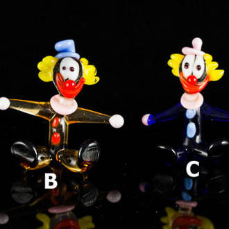 Murano Glass Clowns - Miniature - Seated
