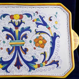 Hand-Painted Ceramics Ricco Deruta Tray