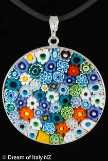 Murano Glass Pendant Millefiori 36mm - Multi