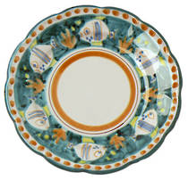 Hand-Painted Ceramics Pesce Side Plate Green