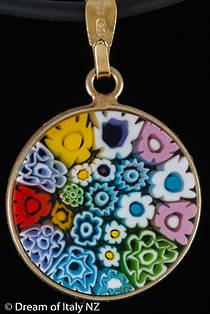 Murano Glass Pendant Millefiori 18mm