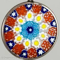 Murano Glass Pendant Millefiori 23mm 3