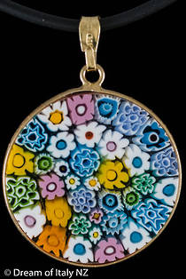 Murano Glass Pendant Millefiori 26mm - Multi