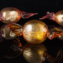 Murano Glass Candies Gold Leaf