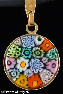 Murano Glass Pendant Millefiori 15mm
