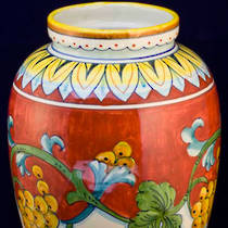 Hand-Painted Ceramics Corallo Tiber Vase