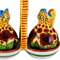 Hand-Painted Ceramics Papaveri Oil and Vinegar Set