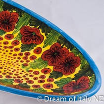 Hand-Painted Ceramics Papaveri Fish Platter