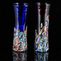 Murano Glass Vase with Millefiori Beads 190mm