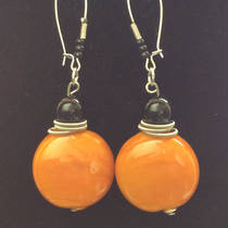 Murano Glass Pastello Earrings - Ochre