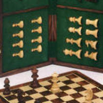 Wooden Magnetic Chess Set 250x250x23
