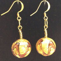 Murano Glass Bead Earrings Desdemona D
