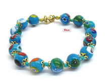 Murano Glass Bead Bracelet - Nerida Aqua