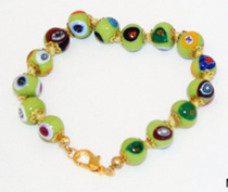 Murano Glass Bead Bracelet - Nerida Green