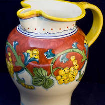 Hand-Painted Ceramics Corallo Jug 200mm