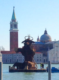 A huge bull used in Venice Carnival 2012